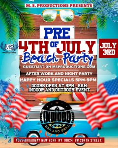 Pre 4th of July Beach Party
